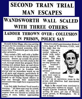 8th July 1965 - Ronnie Biggs escapes from Wandsworth Prison | by Bradford Timeline