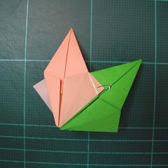 การพับกระดาษแบบโมดูล่าเป็นดาวสปาราซิส (Modular Origami Sparaxis Star) 019