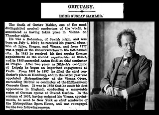 18th May 1911 - Death of Gustav Mahler | by Bradford Timeline