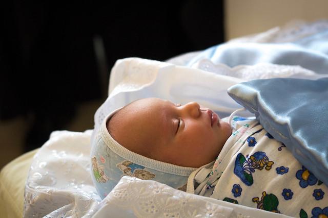 Крещение младенца Феодора