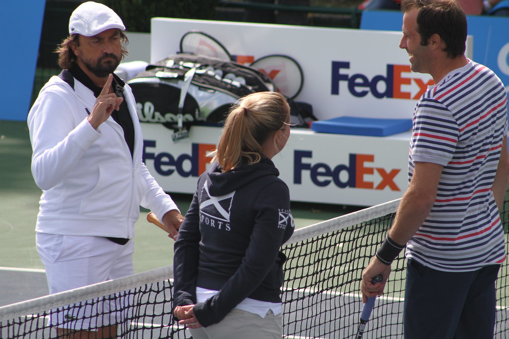 Henri Leconte and Greg Rusedski