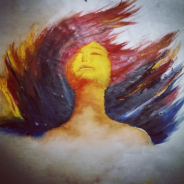 Painting Art Water Color Pain Girl Alone Souravsinha0