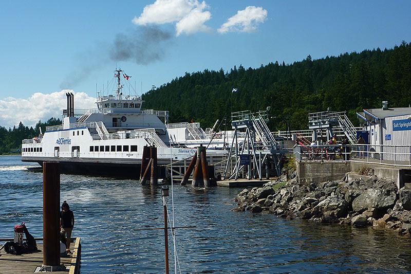 BC Ferry docking at Fulford Harbour, Saltspring Island, Gulf Islands, Georgia Strait, British Columbia, Canada