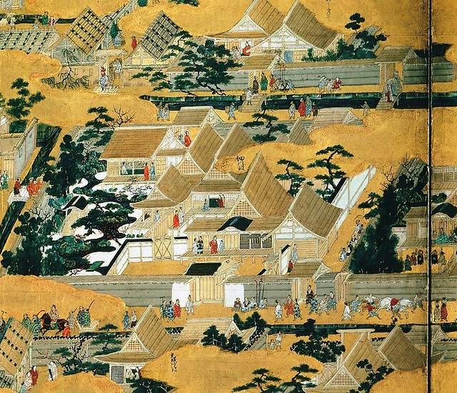 Kano Eitoku (1543-1590) - 1570c. Rakuchu Rakugai-zu (Uesugi Museum, Yonezaka, Japan)