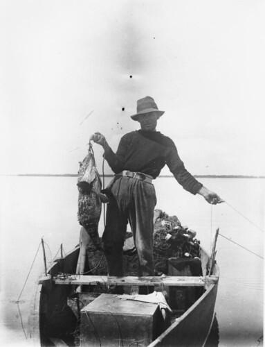 boats fishing fisherman queensland herveybay 1918 statelibraryofqueensland slq