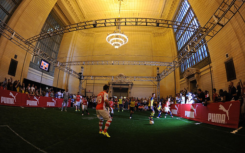 Arsenal players attend a Puma event in New York