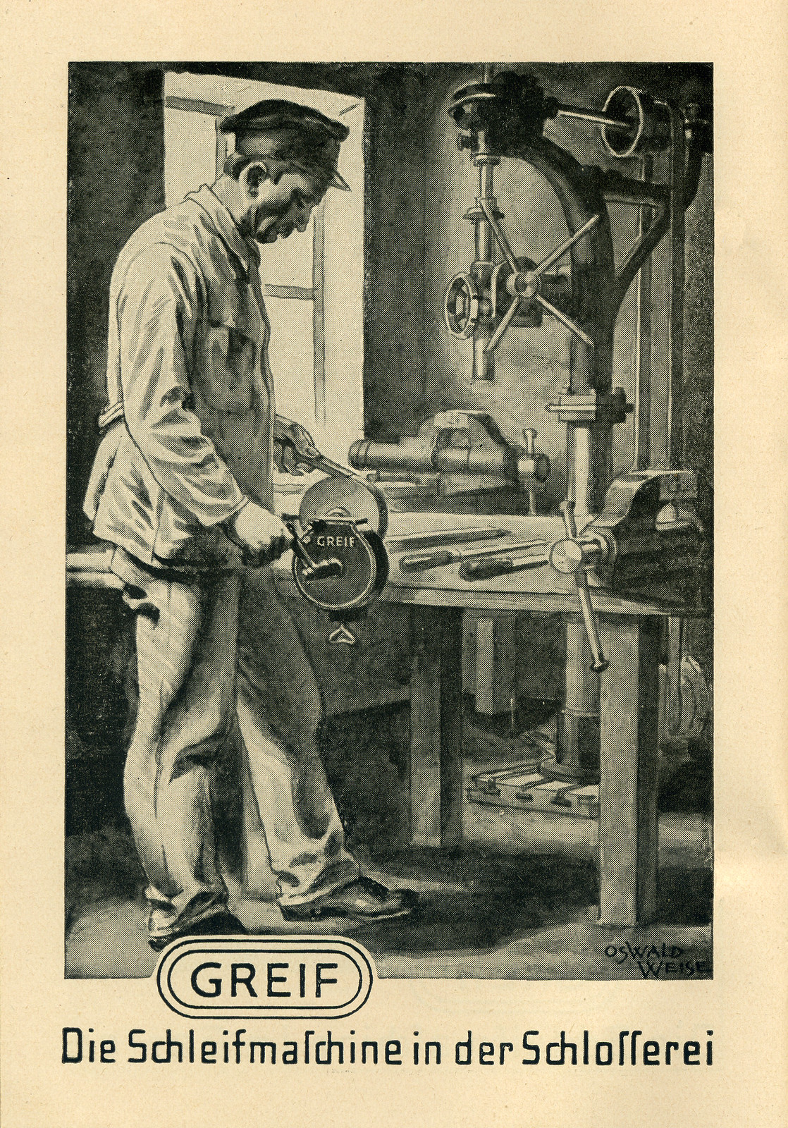 Werbeheftchen für Greif Schleifmaschinen, Bild 2