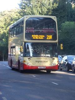 Yn54 Aow Route 21b At Cromwell Road Hove Bus Yn54