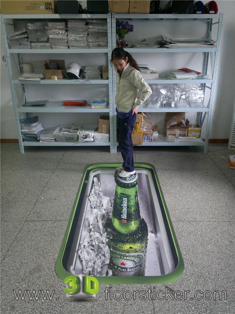 3D ADVERTISEMENT ON FLOOR 2 3D FLOOR STICKER DESIGN WE D