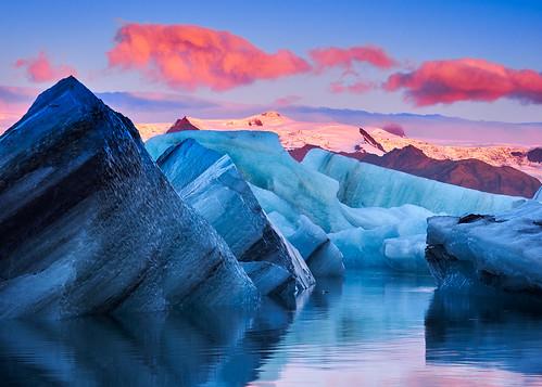 pink blue ice water clouds sunrise canon reflections iceland wolken lagoon glacier amanecer nubes sonnenaufgang spiegelung jökulsárlón tiltshift 90mmtse a7r 90tse sonya7r ilce7r metabonesmarkiv davidmartinezmarinero davidmarinero