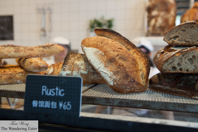 Rustic loaves of bread