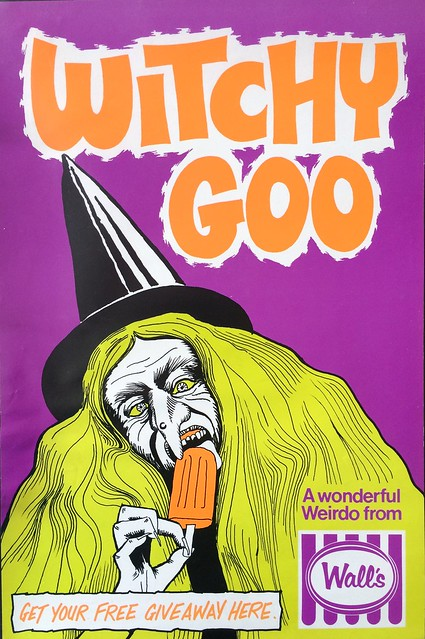 1970s Walls Witchy Goo Ice Block Poster
