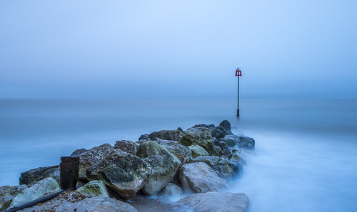 longexposure seagull seaside seascape groyne pebble sea sand