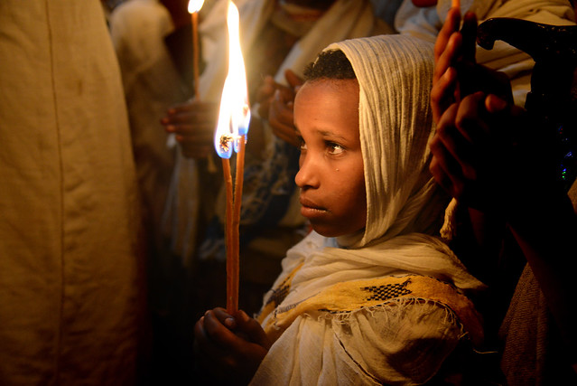 A prayer - Easter celebrations - Lalibela