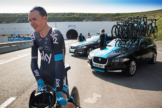 Chris Froome | The First Man to Cycle through the Eurotunnel | by jaguarmena