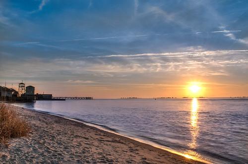 beach sunrise nc southport