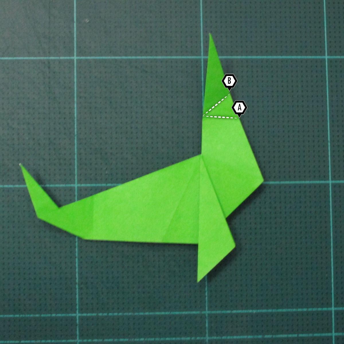 การพับกระดาษเป็นรูปแมวน้ำ (Origami Seal) 009