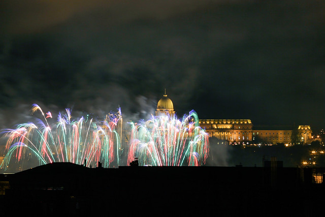 Fireworks Show in Budapest on St. Stephen's Day 2014 August 20. - 24