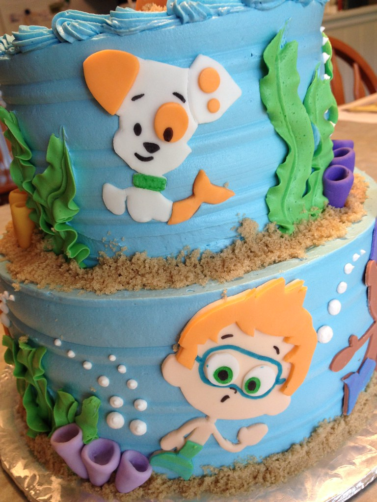 Stupendous Bubble Guppies Birthday Cake Grace Ful Cakes Flickr Birthday Cards Printable Trancafe Filternl