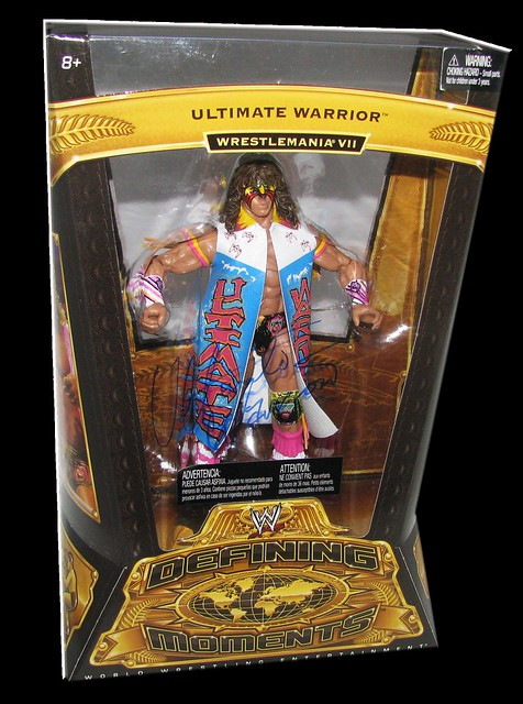 Ultimate Warrior Autographed Mattel WWE Defining Moments Series 2 Figure