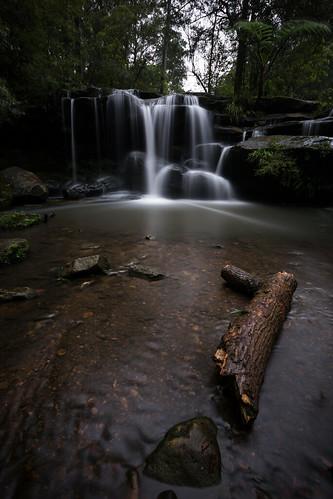 nature water rain vertical creek landscape flow waterfall log rocks long exposure sydney australia falls western newsouthwales carlingford hunts balaka nd1000