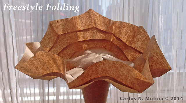 Scalloped Vessel - Paper Art