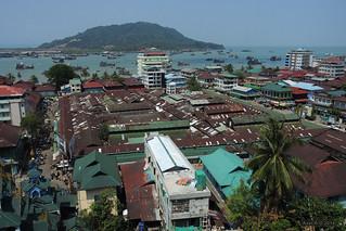 View across Myeik harbour, Myanmar | by -AX-