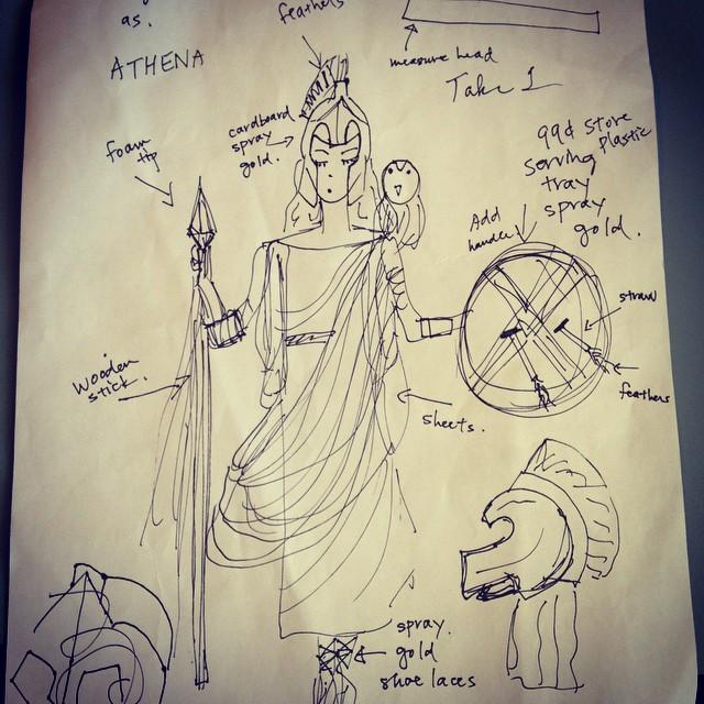 Maya Wants To Be Athena Goddess Of Wisdom Courage And