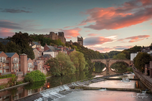 city sunset castle wet water clouds canon river photography cityscape durham sundown cathedral wear riverwear 5d watersedge durhamcity pinks ef1740 5dmkiii 5dmk3 ianflanagan