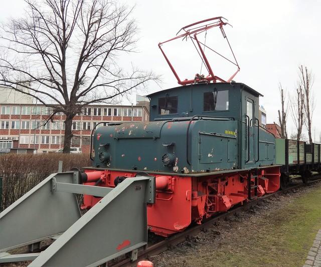 1963 Elektrolokomotive EL4 von VEB Lokomotivbau Elektrotechnische Werke Hennigsdorf (LEW) Werk-Nr. 10047 Westhafenstraße in 13353 Berlin-Moabit