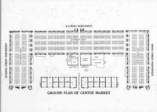 Plan of the Interior of Center Market, 06/1924