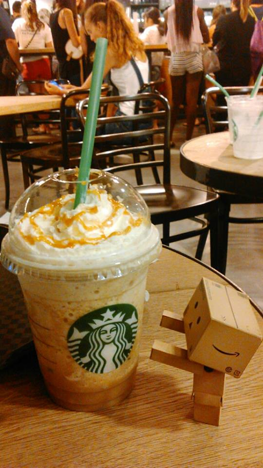Starbucks Day Danbo I Want Frapuccino Please Give Me