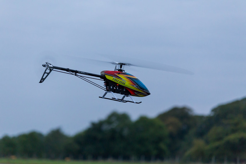 Dave flying his TREX550E.