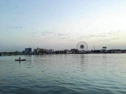 sunset night cloudy iraq partlycloudy basrah