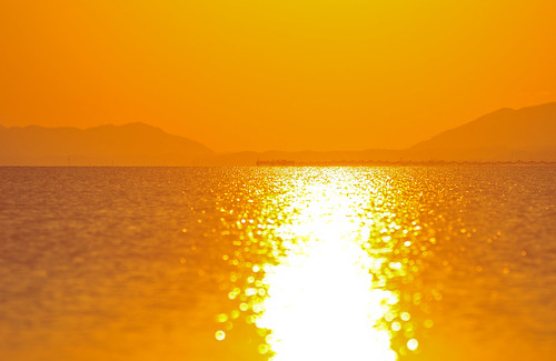 autumn sunset orange lake reflection nature water beautiful japan nikon warm afternoon bokeh sigma nopeople shimane 夕日 matsue zoomlens 70200mm sanin lakeshinji 松江 島根 宍道湖 山陰 d300s