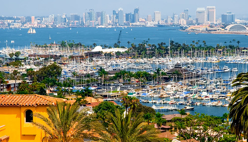 sandiego cityscapes colors california palmtrees walking waterways harbor marina yacht sailboat exploration urban urbanexploration unitedstates blue bay boats walkways outdoors