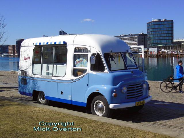 Karrier icecream van XP89625 now in Denmark ex UK