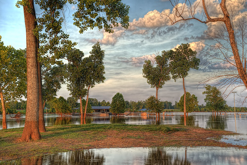 sunset clouds reflections flooding louisiana redriver hdr shreveport sonya7r
