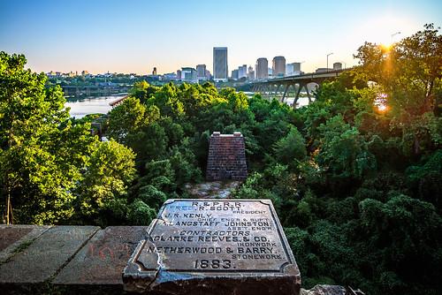 railroad skyline river virginia cityscape crossing richmond rva rprr