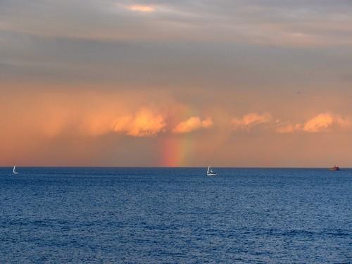 lake sailboat boat rainbow lakemichigan pw
