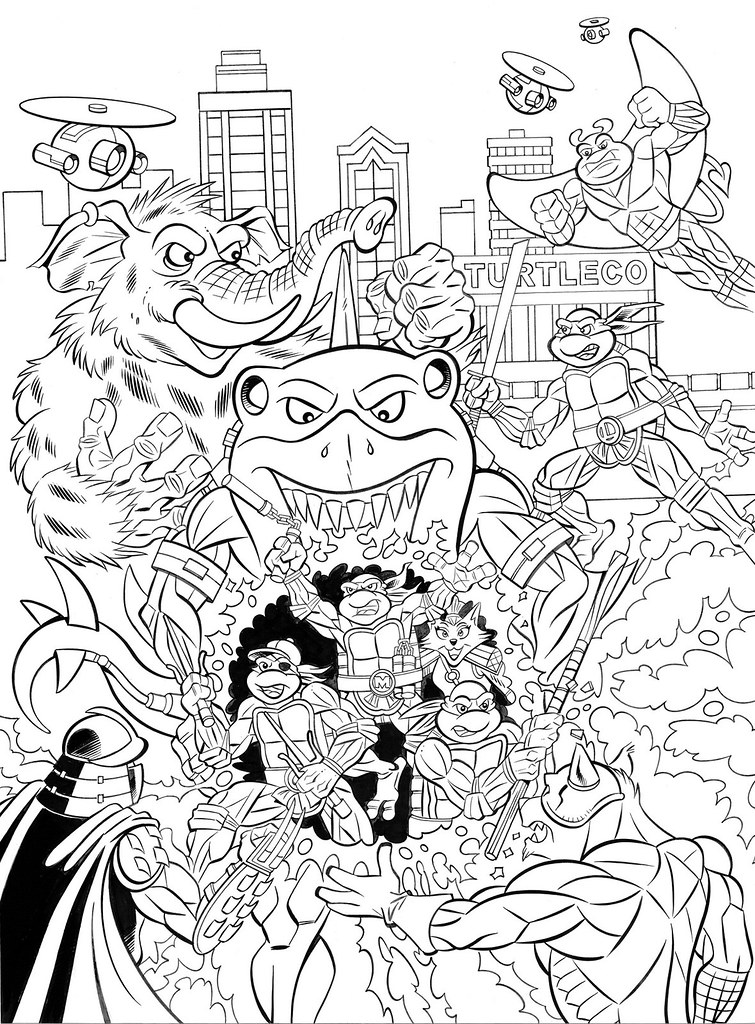 TEENAGE MUTANT NINJA TURTLES ADVENTURES Archives Vol. 10; Inks - Pencils by Steve Lavigne, inks by Ryan Brown (( 2015 )) by tOkKa