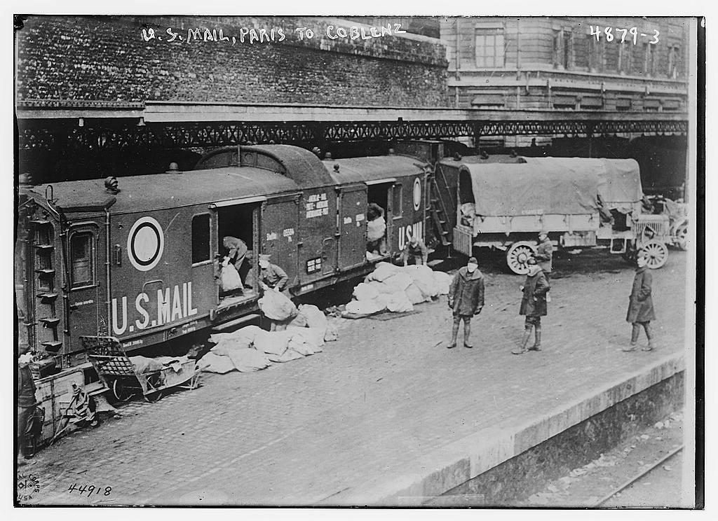 U.S. mail, Paris to Coblenz (LOC)