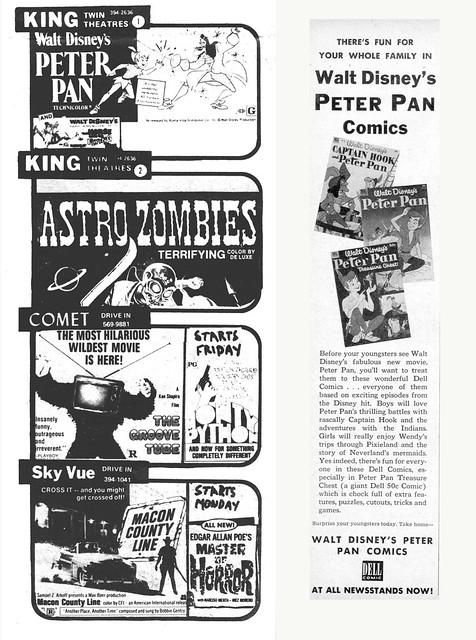 Disney's PETER PAN Combo - Vintage Ads