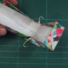 วิธีพับกล่องของขวัญแบบมีฝาปิด (Origami Present Box With Lid) 032