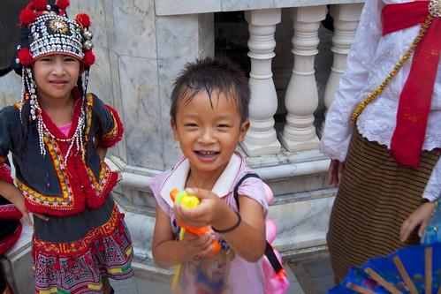 Songkram fight at Wat Phra That Doi Suthep in Chiang Mai, Thailand   by kimtetsu