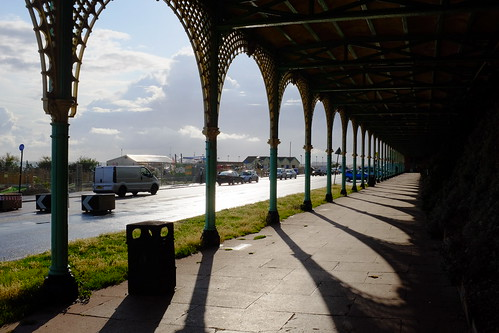 Madeira Drive Green wall, 'The Famous Sheltered Walk'