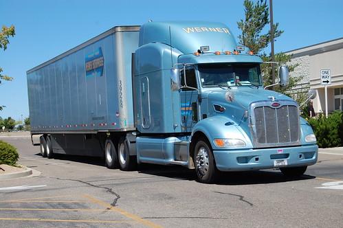 truck semi explore werner peterbilt 18wheeler bigrig 12000views prescottaz wernerenterprises