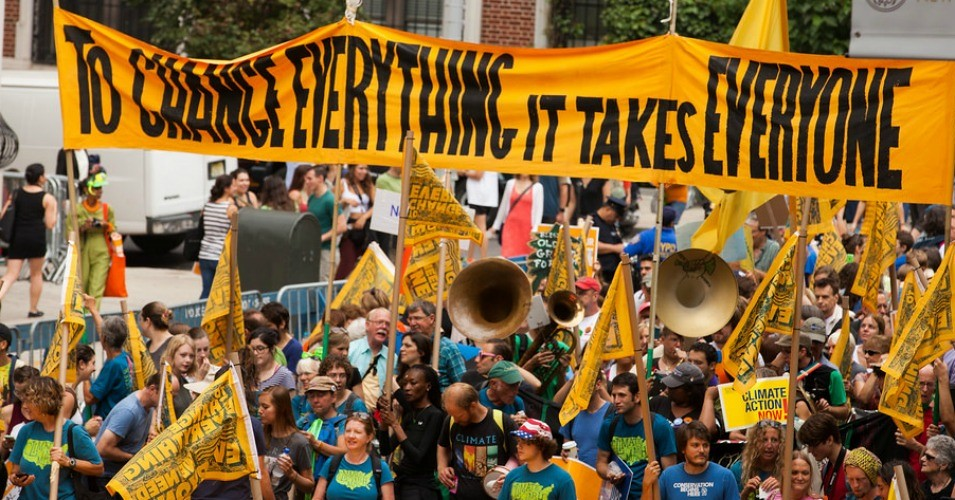 photo of climate protest