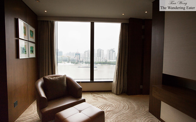 Seating with a river view