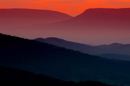 sunset usa mountains virginia johnmuir skylinedrive shenandoahnationalpark skylinedriveshenandoahnationalpark skylinedriveshenandoahnation